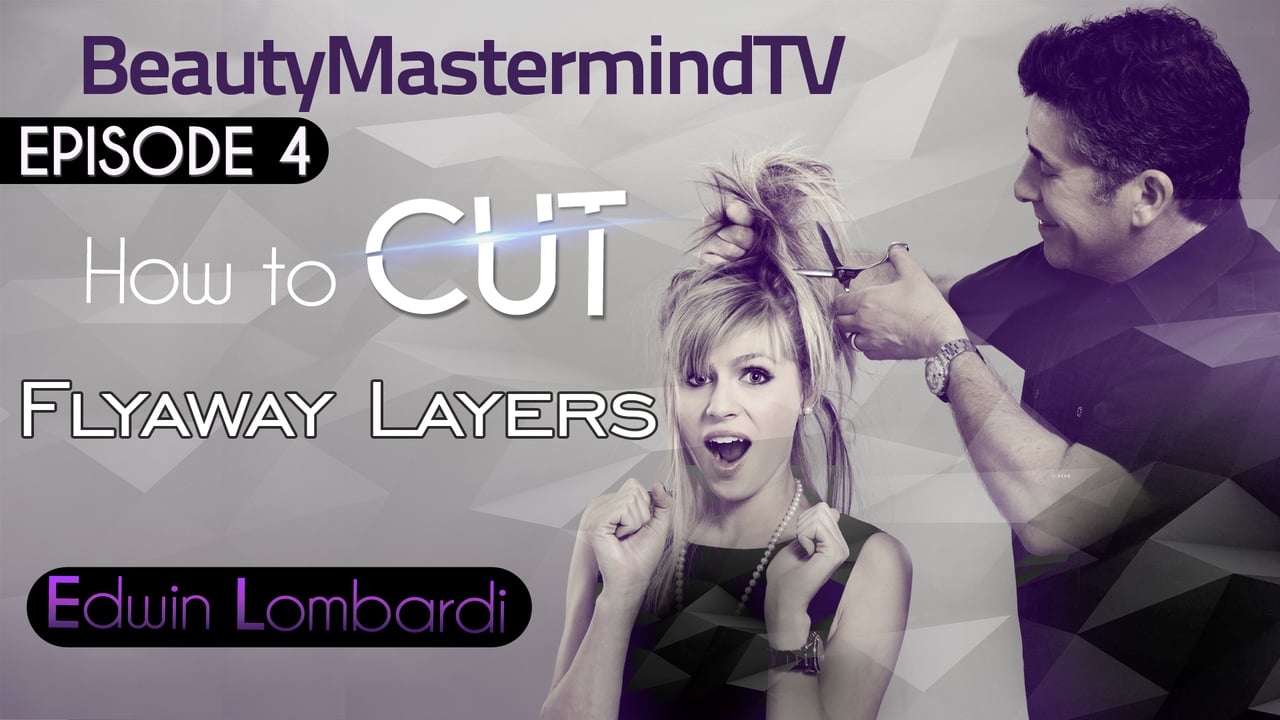 How to cut Flyaway layers using a Dry Cutting technique on medium length hair.