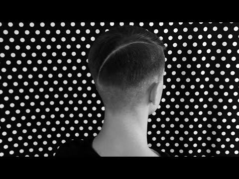 Parted haircut for men