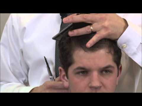 Cutting The Top Section of Pompadour Hairstyle
