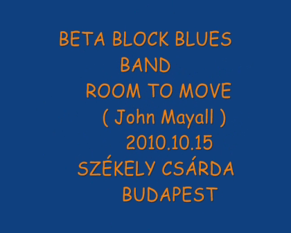 BETA BLOCK BLUES BAND-ROOM TO MOVE 2010