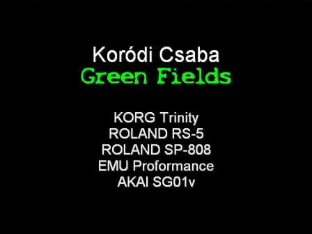 Koródi Csaba - Green Fields