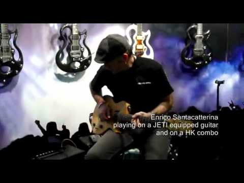 Enrico Santacatterina playing on JETI equipped guitar