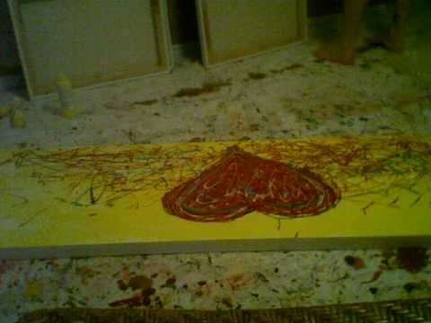 """""""Heart Beat"""" abstract heart painting donated to Pepin Heart Hospital"""