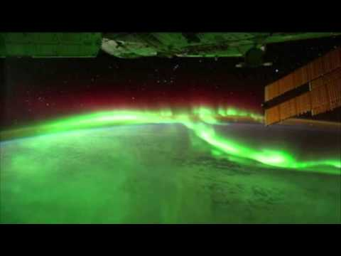 AURORAS UNDER the International Space Station (Sept 17th, 2011).