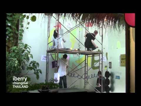"Wall Painting ""iberry Chiangmai"""