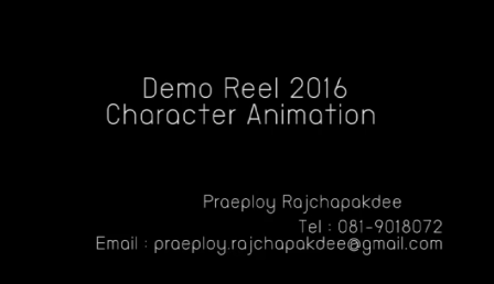 My Demo reel 2016