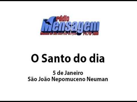 São João Nepomuceno Neuman - Santo do Dia 5 de janeiro