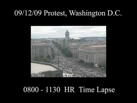 9/12 March on DC Time Lapse Footage 8:00 - 11:30