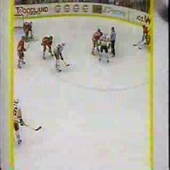 Lemieux Scoress Game Winning Goal Game 1 92' Cup