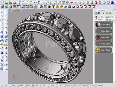 Render a Ring with Brazil for Rhino 4.0 [ English ]