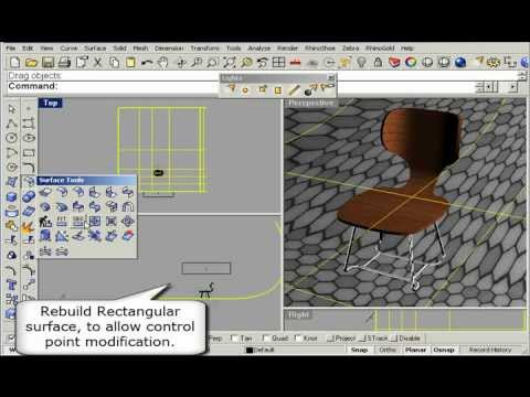 Render a 3D Basic Chair with Rhino 4.0