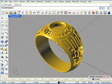 3D Graduation Ring Part 1, Rhino 4.0