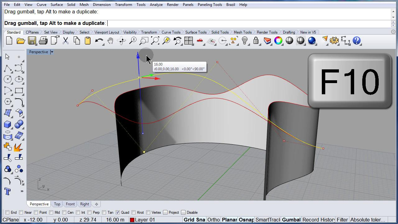 Rhino 5.0 Visual Tips: Curve from 2 Views