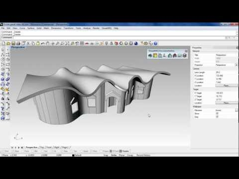 Create and edit architectural Section Views with Rhino and VisualARQ