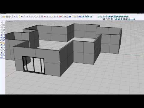 Rhino 4 -- VisualARQ Exporting and Importing Building Elements.