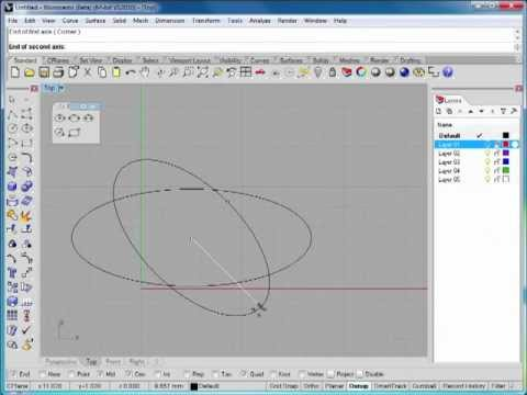 Rhino 5 Tutorial | Working with Polygons and Circles