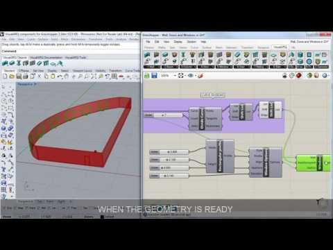Create walls, doors and windows with the VisualARQ Grasshopper Components