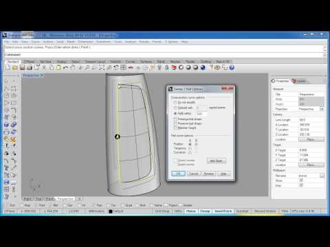 Rhino 5 Tutorial | Project - Bottle - Adding Surface Detail Part 2/2