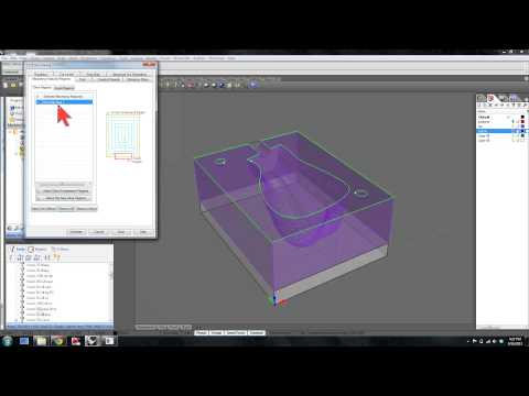 RhinoCam - Facing and 3D toolpaths