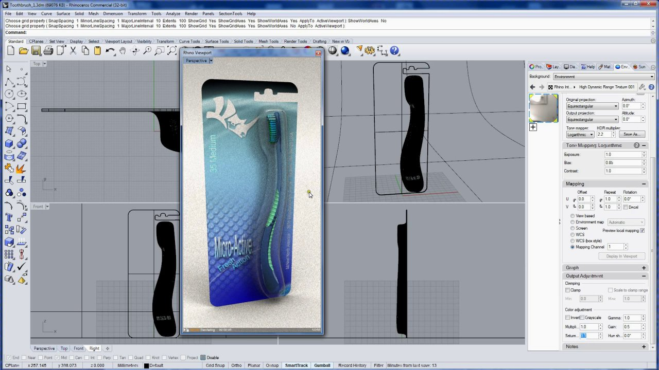 'Say Ahh'... product design and packaging with Rhino 5: Rendering 7 of 7
