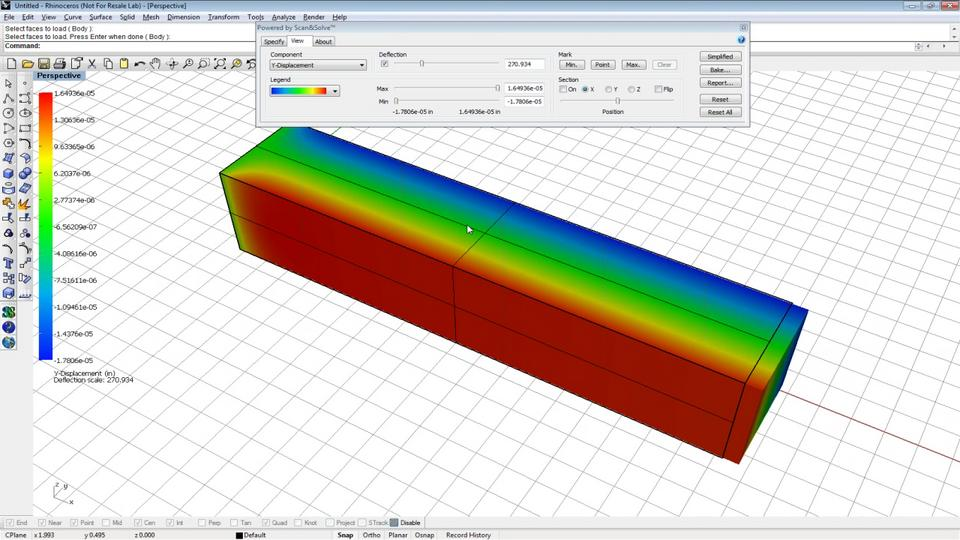 Scan&Solve Structural Analysis in Rhino for Beginners