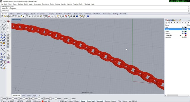 3D chain, jewelry proyect