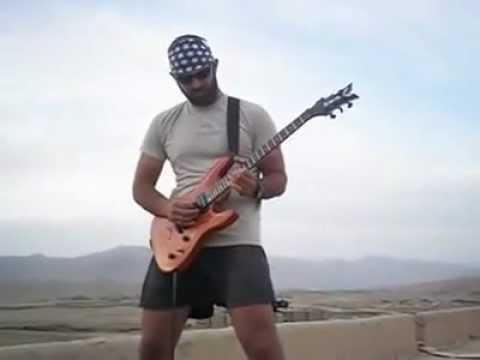 American Soldier Plays Star Spangled Banner During Prayer Time in Afghanistan