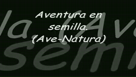 Aventura en semilla (Ave-Natura)