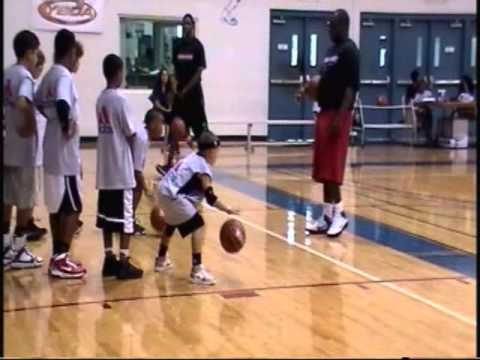 KJ #1 6 YR OLD BASKETBALL PLAYER GETS INVITED TO BRANDON KNIGHT SKILLS CLINIC