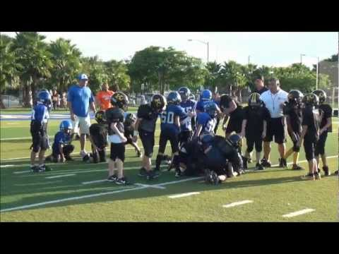 10 year old linebacker Crash Hamilton #22 JUST DEFENSE 2011 #2.wmv