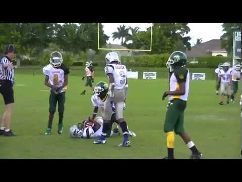 7th Grade QB Deon Jones 2012 football highlights
