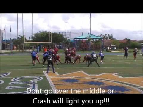 Crash Hamilton Doral Broncos lights up Weston Warrior tight end over the middle