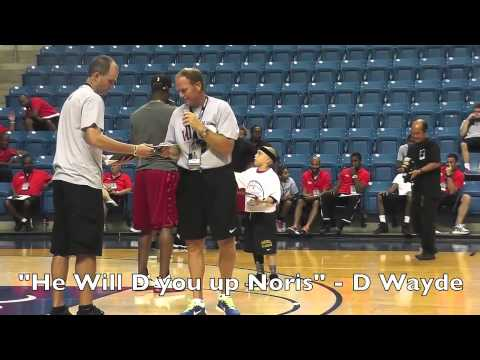 KJ FARFAN Attends DWYANE WADE ALL STAR BASKETBALL CAMP 2013