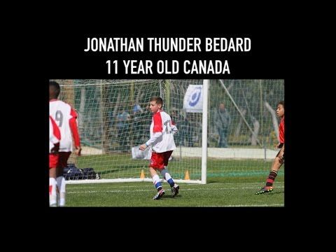 "Phenom soccer player Jonathan ""thunder"" Bedard  11 year old Canada"