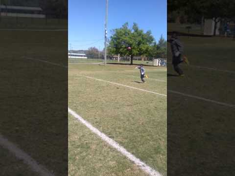 11 year old Fred Gaskin III wide-reciever drills