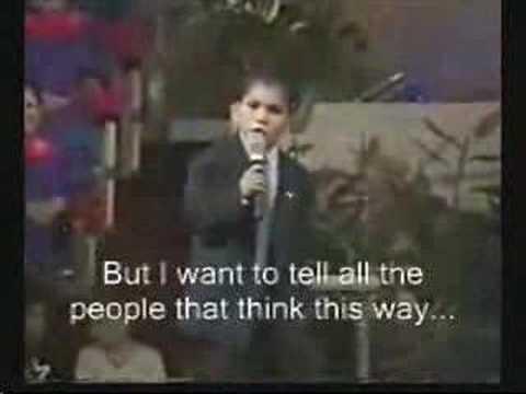 Preacher kid for God.