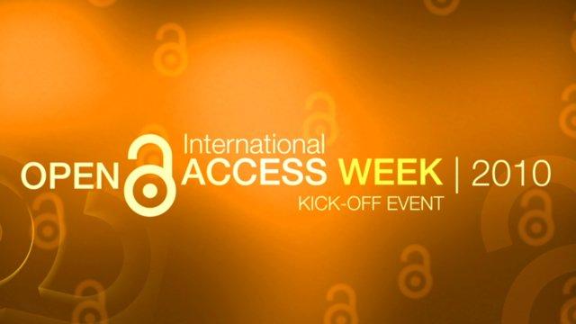Official Open Access Week Kick-off Online Event