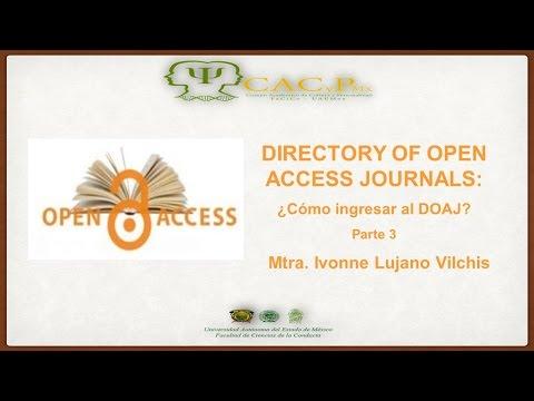 CACyPMx. DOAJ: cómo ingresar al DOAJ. Mtra. Ivonne Lujano Vilchis. (Parte 3)