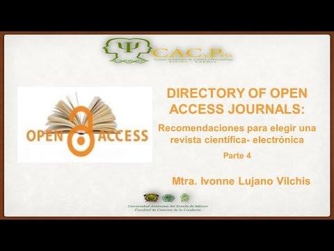 CACyPMx. DOAJ: recomendaciones. Mtra. Ivonne Lujano Vilchis. (Parte 4)