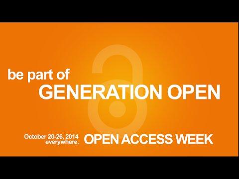 Generation Open - Open Access Week 2014