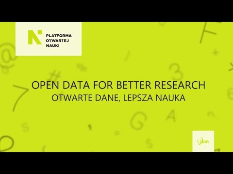 Open Data for Better Research
