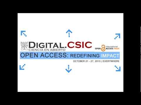 Las iniciativas de Digital.CSIC en la Semana Internacional de Acceso Abierto 2013