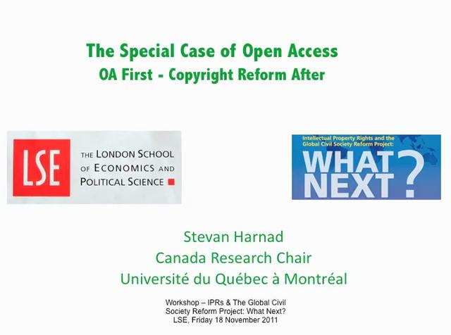 Open Access First - Copyright Reform After