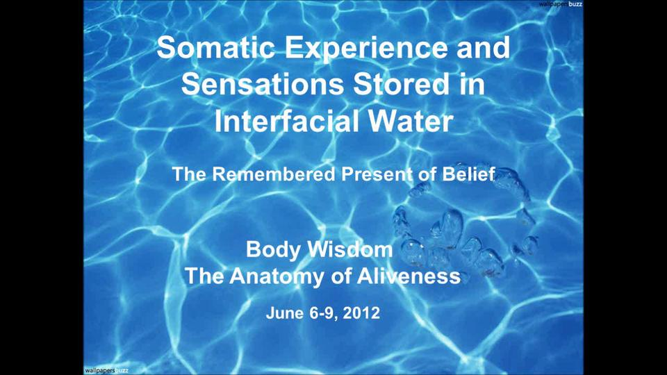 Somatic Experience and Sensations Stored in Interfacial Water - The Remembered Present of Belief