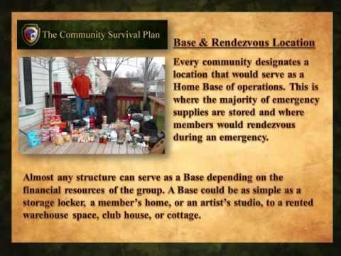 The Community Survival Plan Slide Show