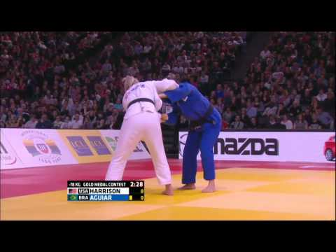 Judo Grand-Slam Paris 2016 (78kg  GM  ) HARRISON, Kayla (USA) - AGUIAR, Mayra (BRA)