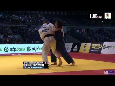 Judo 2016 Grand Prix Dusseldorf: Receveaux (FRA) - Matsumoto (JPN) [-57kg] final
