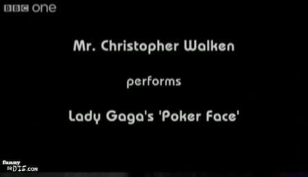 Christopher Walken performs Lady Gaga