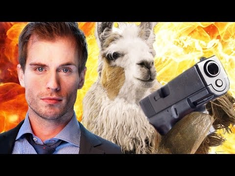 Llama Cop--It's exactly what it sounds like