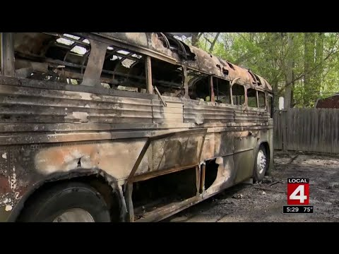 Veterans charity bus torched in Detroit